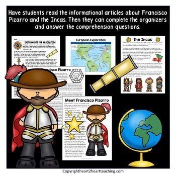 Early Explorers: Francisco Pizarro Unit with Articles, Activities & Flip Book