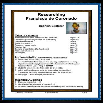 Francisco de Coronado Research