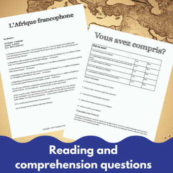 Francophone Africa - comprehensible input lesson for French learners