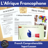 Francophone Africa - comprehensible input lesson for Frenc