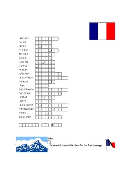 Francophone Countries French-Speaking Countries Puzzles