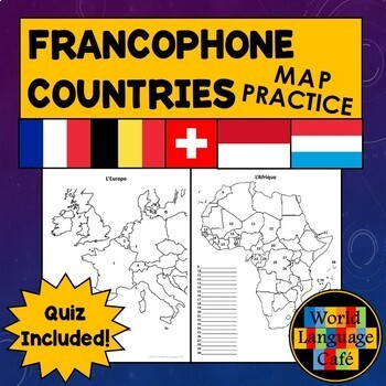 Francophone Countries Map Quiz and Practice for French Speaking