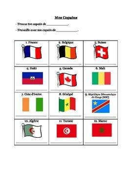 Francophone Country Buddies (Clock Buddies Variant)