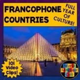 Francophone Countries Lesson Plans, Maps, Videos, Flags, Nationalities Bundle