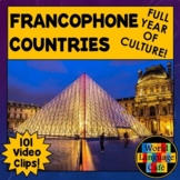 Francophone Countries, French Speaking Countries, Maps, Videos, Flags Bundle