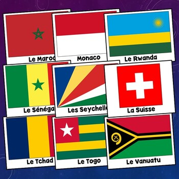 Francophone Flags for 31 French Speaking Countries