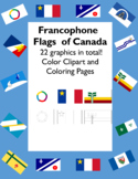 Francophone Flags of Canada - Flags of La Francophonie w/ Coloring Pages