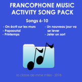 Francophone Music activity package: songs 6-10