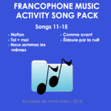 Francophone Music activity package: songs 11-15