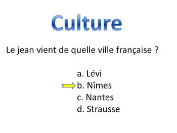 Francophone Trivia Game-Powerpoint