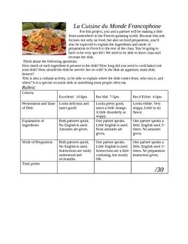 Francophone World Food Project