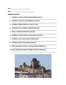 Francophone cultural activity / adjectives review
