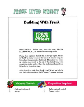 Frank LLoyd Wright Lesson