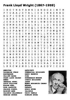 Frank Lloyd Wright Word Search