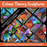 Art Lesson (guided with choice) COLOUR THEORY SCULPTURE inspired by Frank Stella