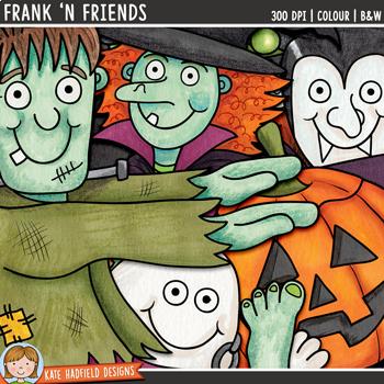"Halloween Clip Art: ""Frank 'n Friends"""
