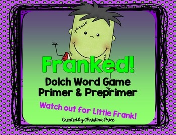 Halloween Primer and Preprimer Dolch Word / Sight Word Game