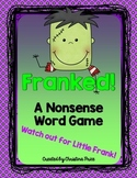 Halloween Nonsense Word Game