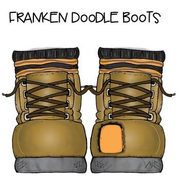 Franken Doodle Shoes!!! Free Clipart