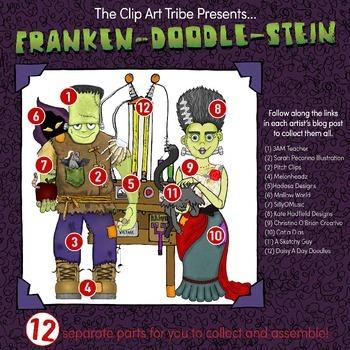 Franken-Doodle-Stein Poster: Piece #2