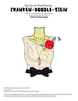 Franken-Doodle-Stein Poster: Piece #9