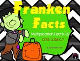 Franken Facts Halloween Multiplication 3rd Grade 1-12