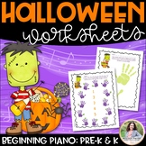 Halloween Finger Numbers & Hands Worksheets for Beginning