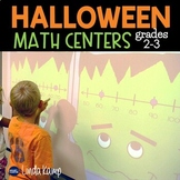 Halloween Math Centers | Number Line Math Games & More Grades 2-3