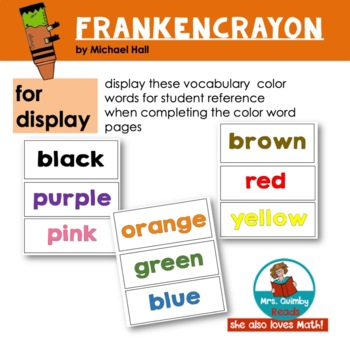 Frankencrayon by Michael Hall - Reader Response Pages