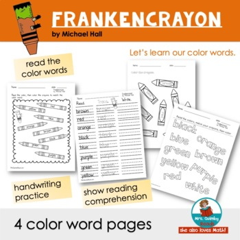 Frankencrayon by Michael Hall | Reader Response Pages | Book Companion