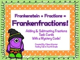 Frankenfractions! Adding & Subtracting Fractions Task Cards!