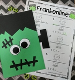 Frankenline Math Multiplication number line craftivity fro