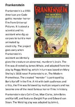 Frankenstein 1931 Film Handout