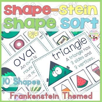 Frankenstein 2D Shape Sorting Cards