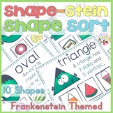 Frankenstein 2D Shape Sorting Cards