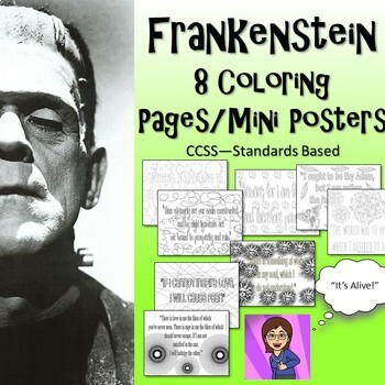 Frankenstein : 8 Coloring Pages/Mini-Posters