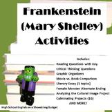 Frankenstein Activity Bundle (Mary Shelley)- PDF version
