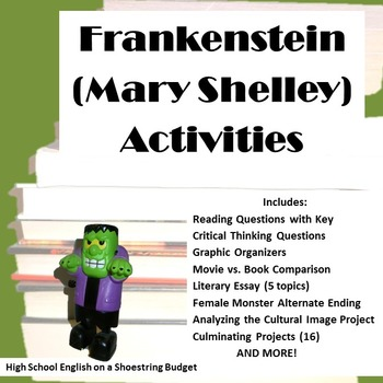 Frankenstein Activity Bundle (Mary Shelley)- PDF version