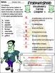 Frankenstein Activities: Frankenstein Junior Classic Halloween Activity Packet