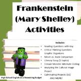 Frankenstein Activity Bundle (Mary Shelley) Word version