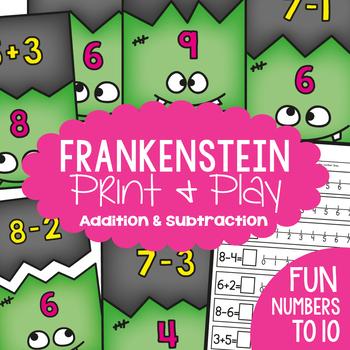Frankenstein Addition and Subtraction Math Center