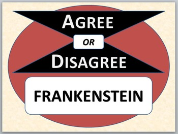 Frankenstein - Agree or Disagree Pre-reading activity