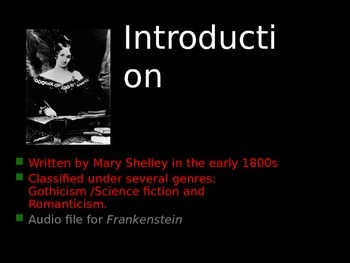 Frankenstein: An introduction to the Novel