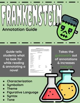 frankenstein annotation guide by english classroom solutions tpt rh teacherspayteachers com Frankenstein Reading Guide Questions Answers Frankenstein Chapter Questions and Answers