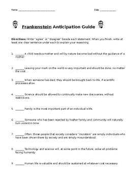 Frankenstein Anticipation Guide