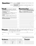 Frankenstein Argument Essay Graphic Organizer / Planning Sheet