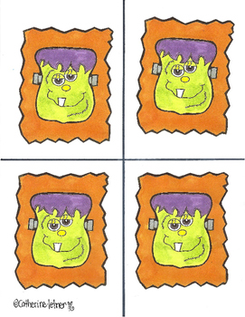 Frankenstein, With Bulletin Board Letters, Halloween Crafts, October Crafts