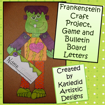 Frankenstein Craft  With Bulletin Board Letters