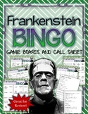 FRANKENSTEIN BINGO: INSTRUCTIONS, GAME BOARDS AND CALL SHEET