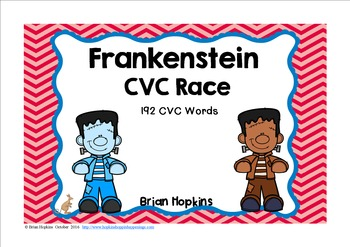 Frankenstein CVC Word Race